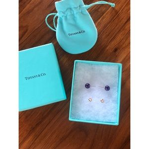 Tiffany Amethyst 🔮 Ball 🔮 Studs MINT